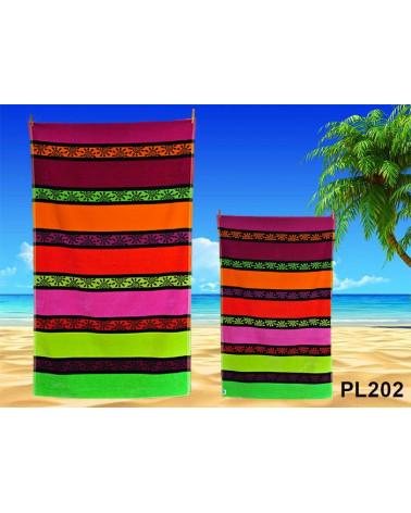 Ręcznik plażowy kąpielowy 90x170 bawełna egipska PL202