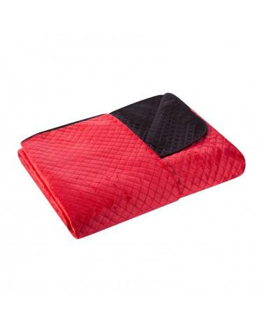 Narzuta na łóżko welurowa FILIP Eurofirany Czerwony+Czarny dwa rozmiary  Narzuta na łóżko FILIP Eurofirany Czerwony+Czarny welurowa