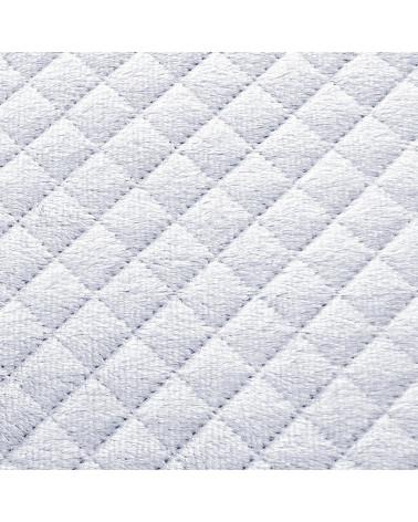 Narzuta na łóżko welurowa 170x210 FILIP Eurofirany biały+srebrny  Narzuta welurowa na łóżko FILIP Eurofirany 170x210