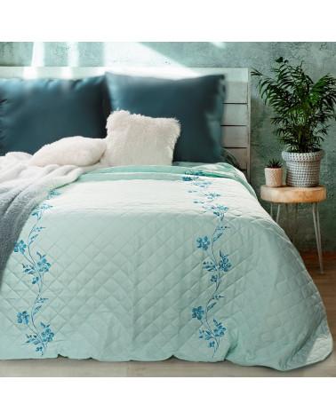 Narzuta na łóżko 220x240 ANY Eurofirany Mięta  Narzuta ANY Eurofirany