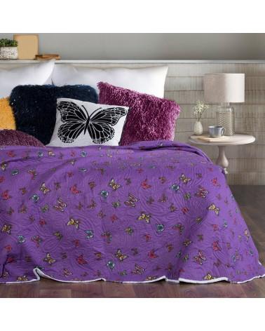 Narzuta na łóżko dwustronna HATTIE Eurofirany dwa rozmiary Narzuta na łóżko Hattie
