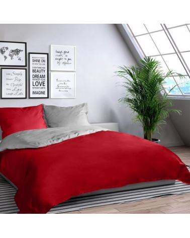 Pościel NOVA Eurofirany, czerwony + srebrny 140x200