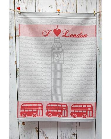 Ściereczka kuchenna 50x70 I love London Texpol 100% bawełna  Ściereczka kuchenna