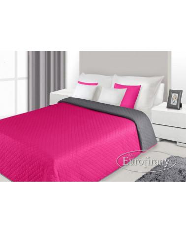 Narzuta na łóżko i fotel ALEX Eurofirany Stal+Amarant dwa rozmiary  Narzuta ALEX Eurofirany Stal+Amarant
