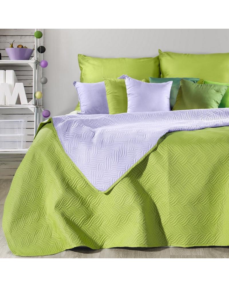 Narzuta na łóżko FALA Eurofirany Sałata+Lila dwa rozmiary Narzuta na łóżko FALA Eurofirany