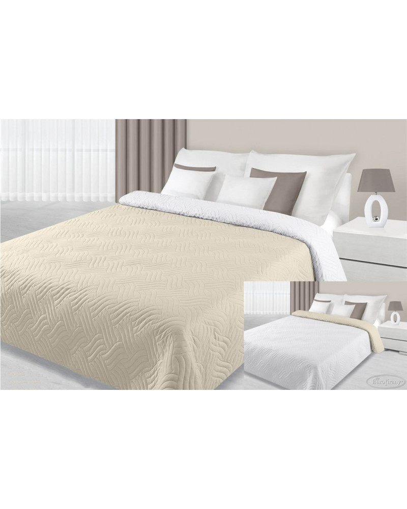 Narzuta na łóżko FALA Eurofirany Krem+Biały dwa rozmiary Narzuta na łóżko FALA Eurofirany