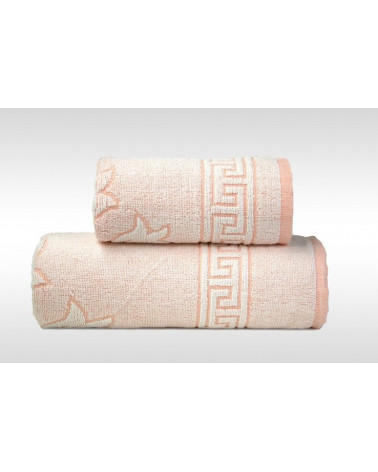 Ręcznik FLORA 2 GRENO Brzoskwiniowy