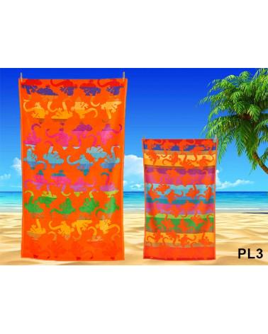 Ręcznik plażowy kąpielowy 90x170 bawełna egipska PL3  Ręcznik plażowy, kąpielowy PL3