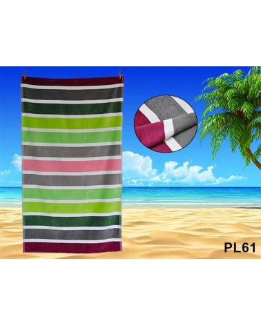 Ręcznik plażowy kąpielowy 90x170 bawełna egipska PL61