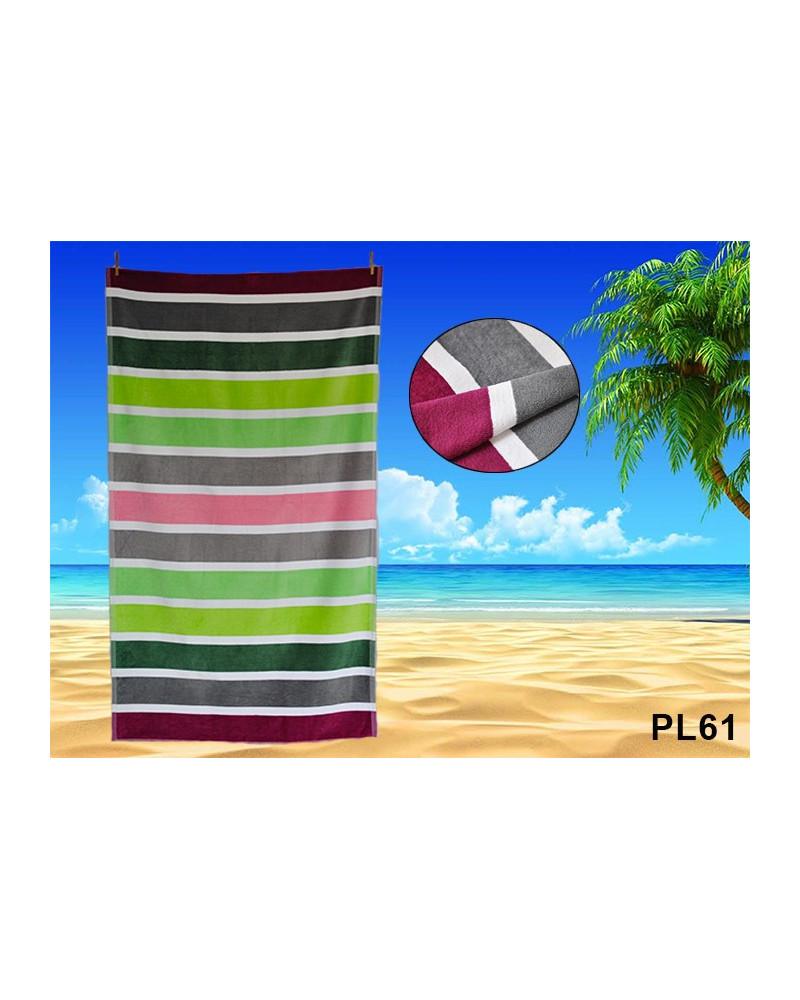 Ręcznik plażowy kąpielowy 90x170 bawełna egipska PL61 Ręcznik plażowy kąpielowy 90x170 bawełna egipska PL61
