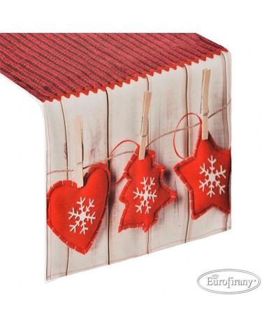 Bieżnik świąteczny 40x140 TREE2 Eurofirany  Obrus świąteczny