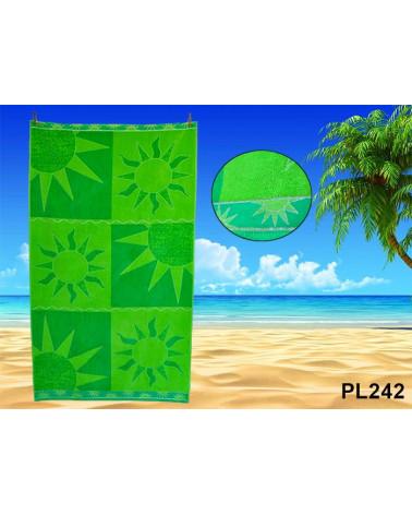 Ręcznik plażowy kąpielowy 90x170 bawełna egipska PL242  Ręcznik plażowy kąpielowy 90x170 bawełna egipska PL242