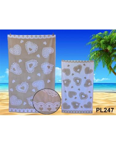 Ręcznik plażowy kąpielowy 90x170 bawełna egipska PL247