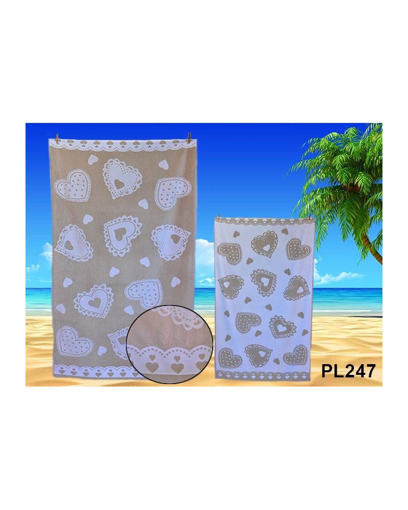 Ręcznik plażowy kąpielowy 90x170 bawełna egipska PL247 Ręcznik plażowy kąpielowy 90x170 bawełna egipska PL247