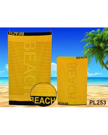 Ręcznik plażowy kąpielowy 90x170 bawełna egipska PL253