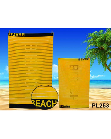 Ręcznik plażowy kąpielowy 90x170 bawełna egipska PL253  Ręcznik plażowy kąpielowy 90x170 bawełna egipska PL253