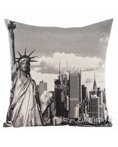 Poszewka dekoracyjna retro 45x45 NEWYORK/3 Eurofirany5
