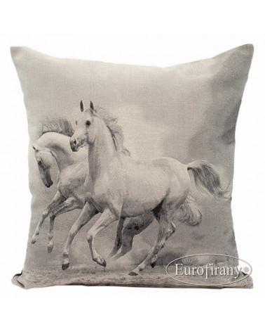 Poszewka dekoracyjna retro 45x45 HORSE/01 Eurofirany