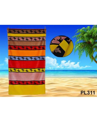 Ręcznik plażowy kąpielowy 90x170 bawełna egipska PL311  Ręcznik plażowy kąpielowy 90x170 bawełna egipska PL311