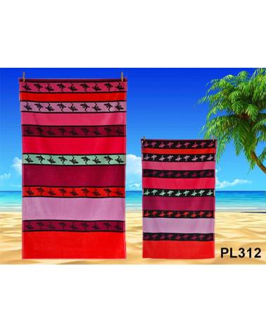 Ręcznik plażowy kąpielowy 90x170 bawełna egipska PL312  Ręcznik plażowy kąpielowy 90x170 bawełna egipska PL312
