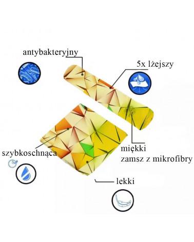 RĘCZNIK PLAŻOWY KĄPIELOWY Z MIKROFIBRY