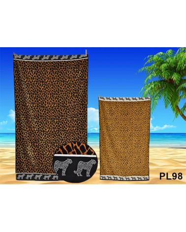 Ręcznik plażowy kąpielowy 90x170 bawełna egipska PL98