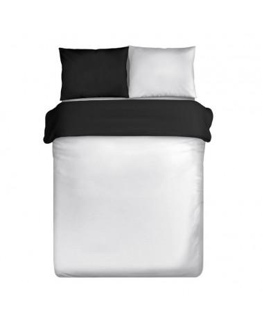 Pościel bawełna satynowa 160x200 NOVA Eurofirany biały+czarny Pościel NOVA Eurofirany