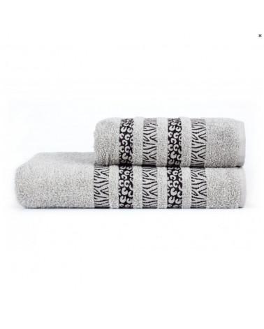 Ręcznik kąpielowy, łazienkowy, bawełniany j.szary