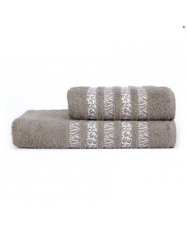 Ręcznik kąpielowy, łazienkowy, bawełniany c.szary