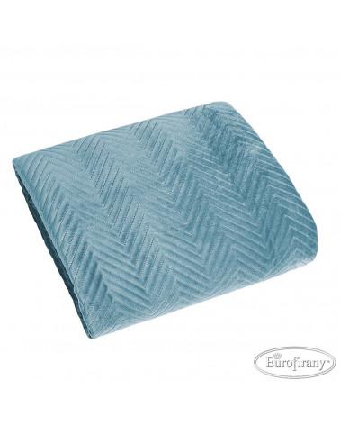 Narzuta na fotel SOFIA Eurofirany Niebieski 70x160