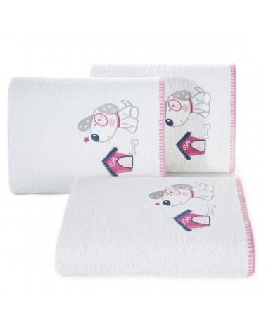 Ręcznik dla dzieci BABY28 Eurofirany 450gsm B+Róż