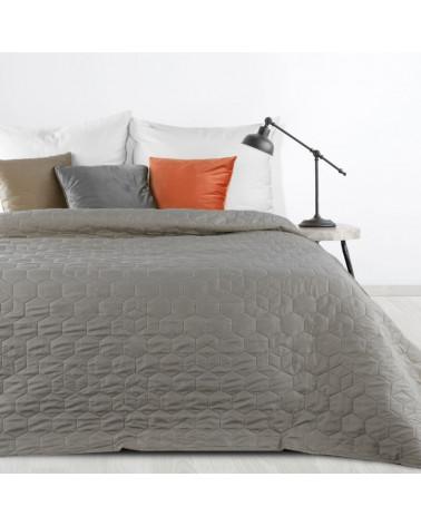 Narzuta na łóżko VANESA Stalowy design 91