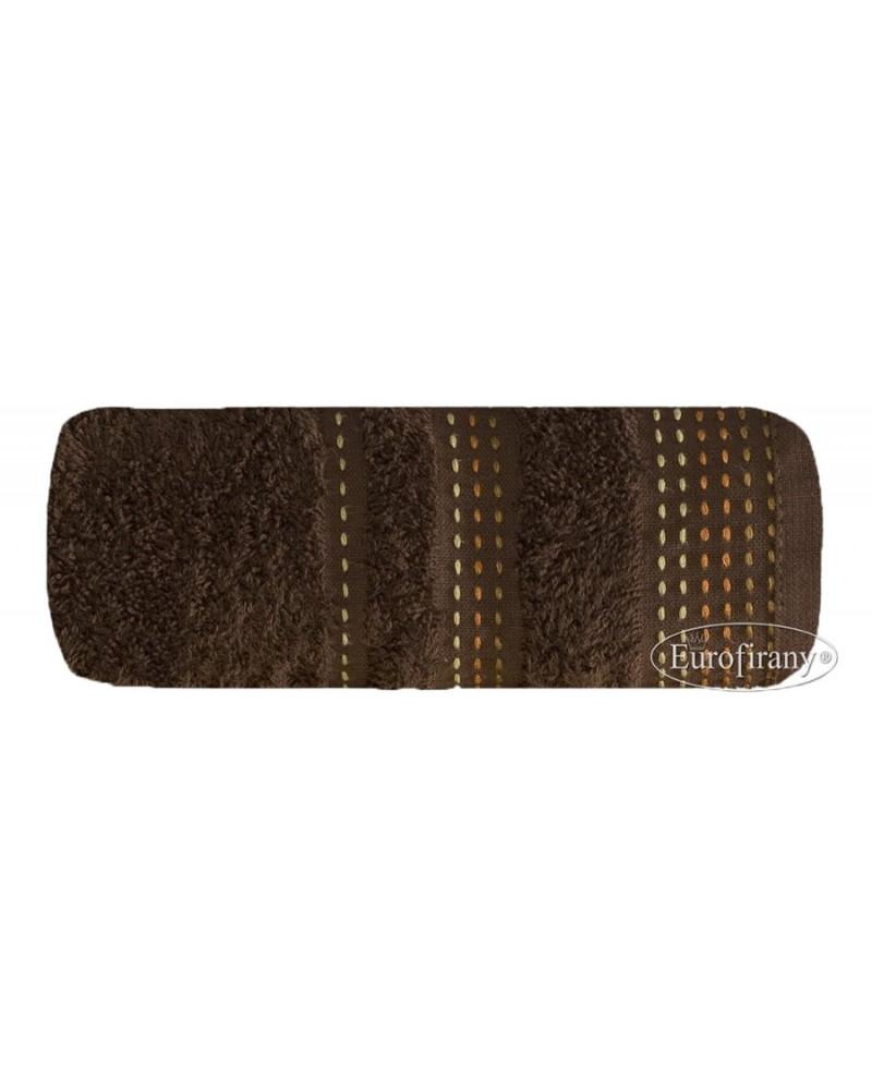 Ręcznik frotte 70x140 POLA Eurofirany brązowy Ręcznik POLA Eurofirany