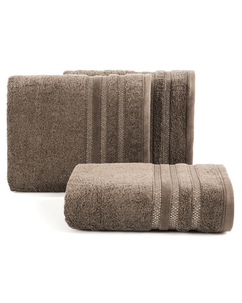 Ręcznik frotte JUDY Eurofirany dwa rozmiary brązowy