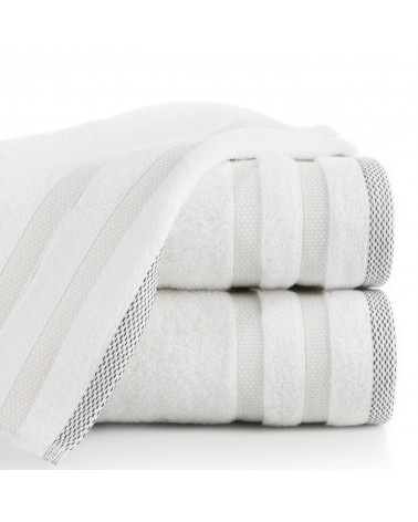 Ręcznik frotte RIKI Eurofirany 100% Bawełna Biały dwa rozmiary
