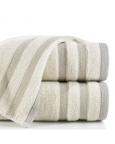 Ręcznik frotte RIKI Eurofirany 100% Bawełna Beżowy dwa rozmiary