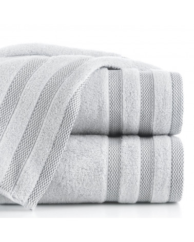 Ręcznik frotte RIKI Eurofirany 100% Bawełna Srebrny dwa rozmiary