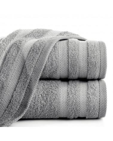 Ręcznik frotte RIKI Eurofirany 100% Bawełna Stalowy dwa rozmiary