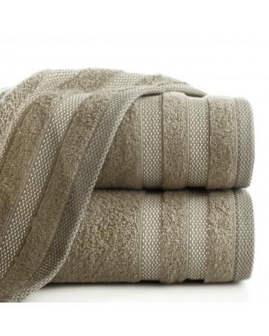Ręcznik frotte RIKI Eurofirany 100% Bawełna J.Brąz dwa rozmiary