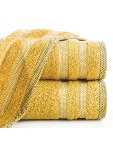 Ręcznik frotte RIKI Eurofirany 100% Bawełna Musztardowy dwa rozmiary