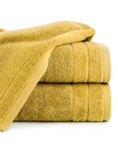 Ręcznik frotte DAMLA Eurofirany 100% Bawełna Musztardowy dwa rozmiary