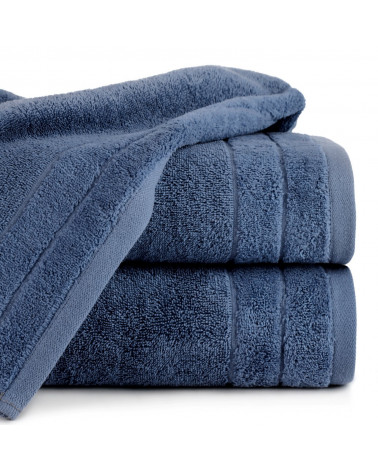 Ręcznik frotte DAMLA Eurofirany 100% Bawełna Granatowy dwa rozmiary