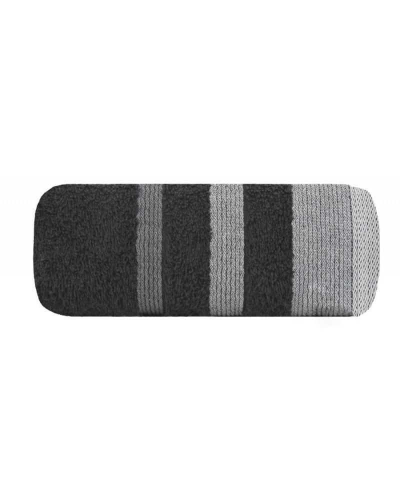 Ręcznik frotte 50x90 METROPOLITAN Eurofirany czarny Ręcznik METROPOLITAN Eurofirany