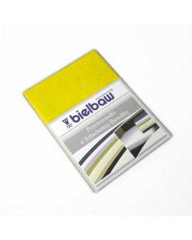 Prześcieradło bez gumki 220x210 bawełniane Greno Żółty
