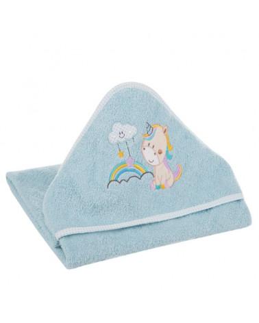 Okrycie kąpielowe niemowlęce 100x100 Baby Eurofirany Niebieski