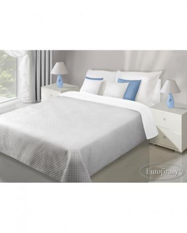 Narzuta na łóżko welurowa 170x210 FILIP Eurofirany biały+srebrny