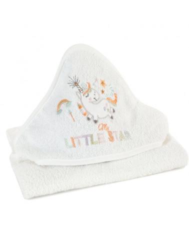 Okrycie dziecięce kąpielowe 100x100 Baby35 Eurofirany Biały
