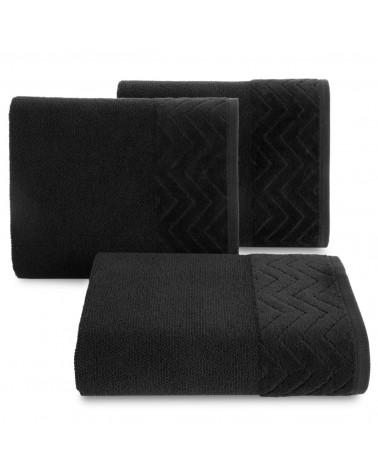 Ręcznik ZOE Eurofirany Czarny 100% Bawełna trzy rozmiary