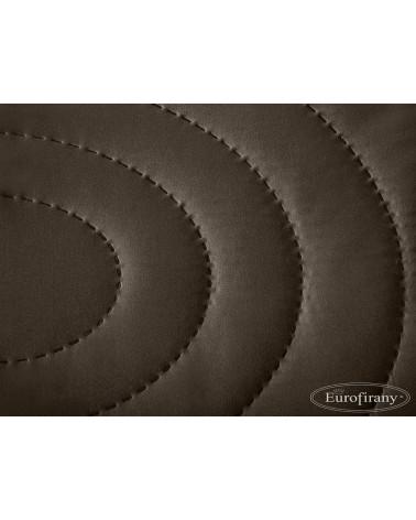 Narzuta na łóżko 220x240 ALISA Eurofirany Brąz+Biały  Narzuta na łóżko ALISA Eurofirany