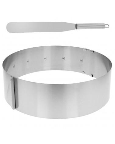 Forma regulowana rant do tortu okrągła 8cm łopatka